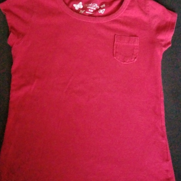 low priced best amazing selection 3 for $10 Red Faded Glory Tee Girls sz 7/8